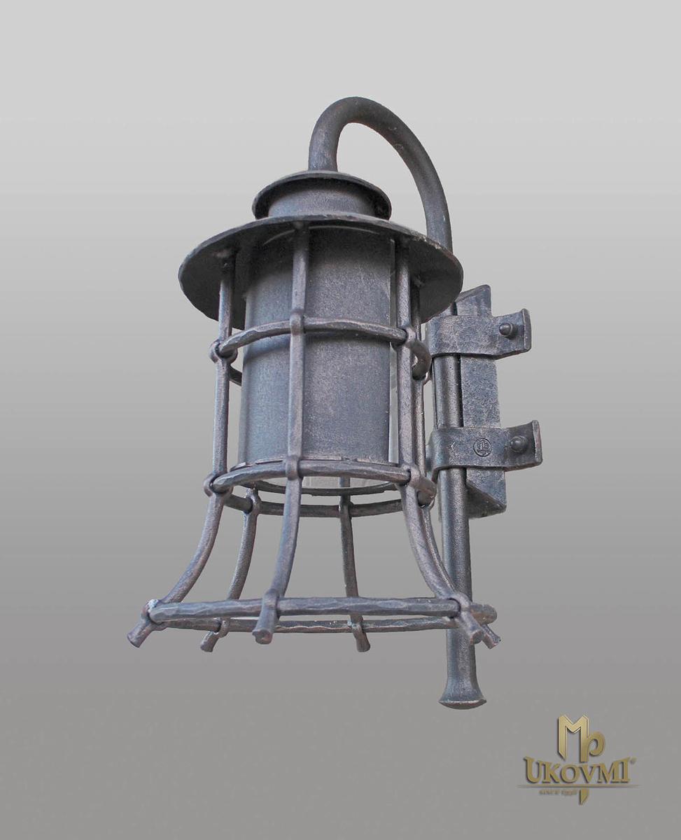 Nástenné svietidlo - kovaná lampa KLASIK ZVON - exteriérové svietidlo