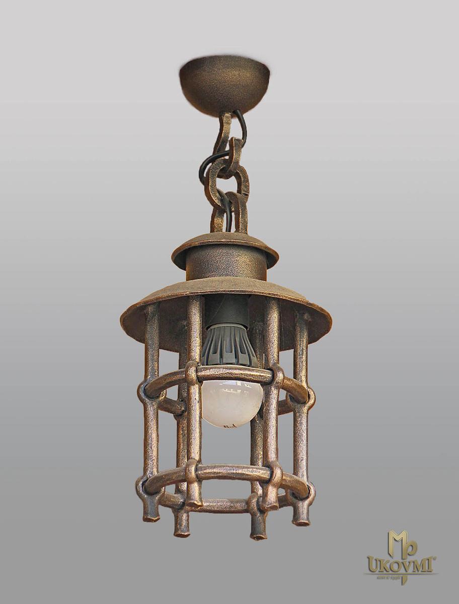 Závesné svietidlo -  kovaná lampa KLASIK - exteriérové stropné svietidlo
