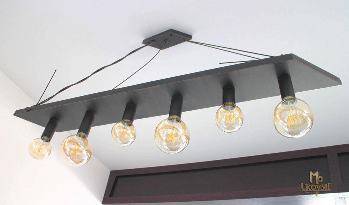 Moderné závesné svietidlo kosodĺžnik - dizajnový luster