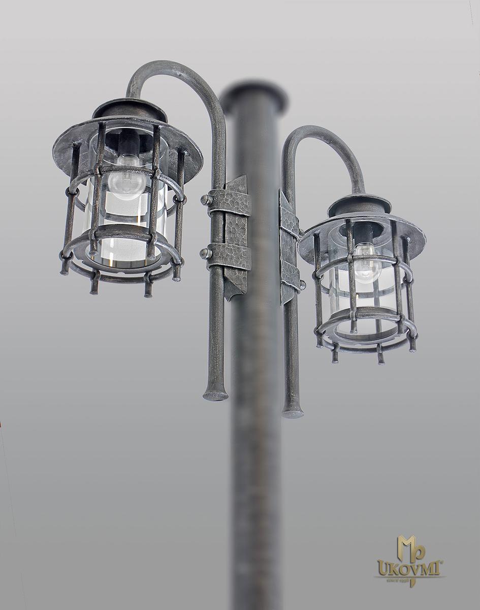 Bočné svietidlo na stĺp KLASIK (bez stĺpa) - záhradné svietidlo