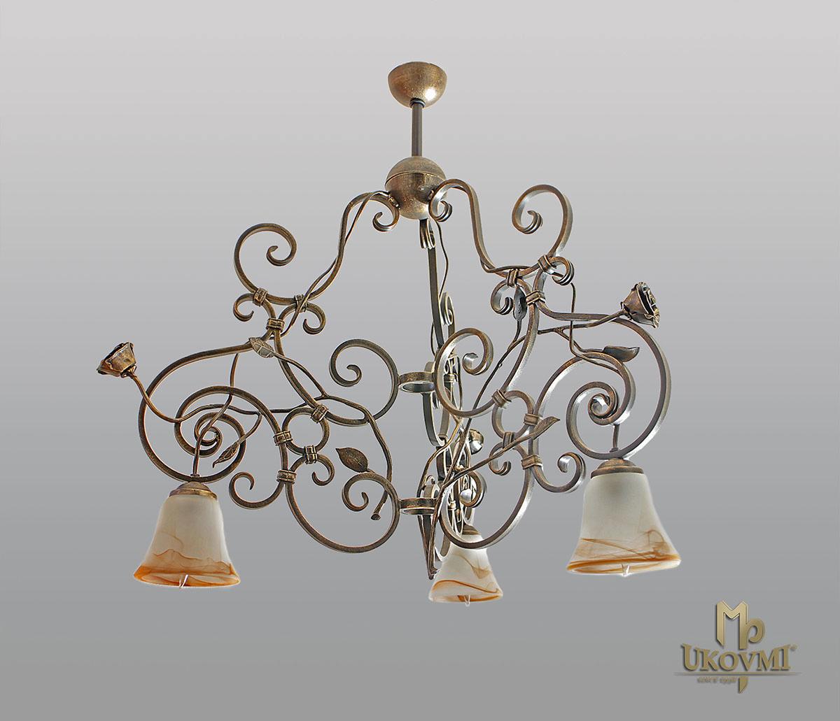 Závesné svietidlo – kovaný luster – RUSTIKÁL 3 - interiérové svietidlo