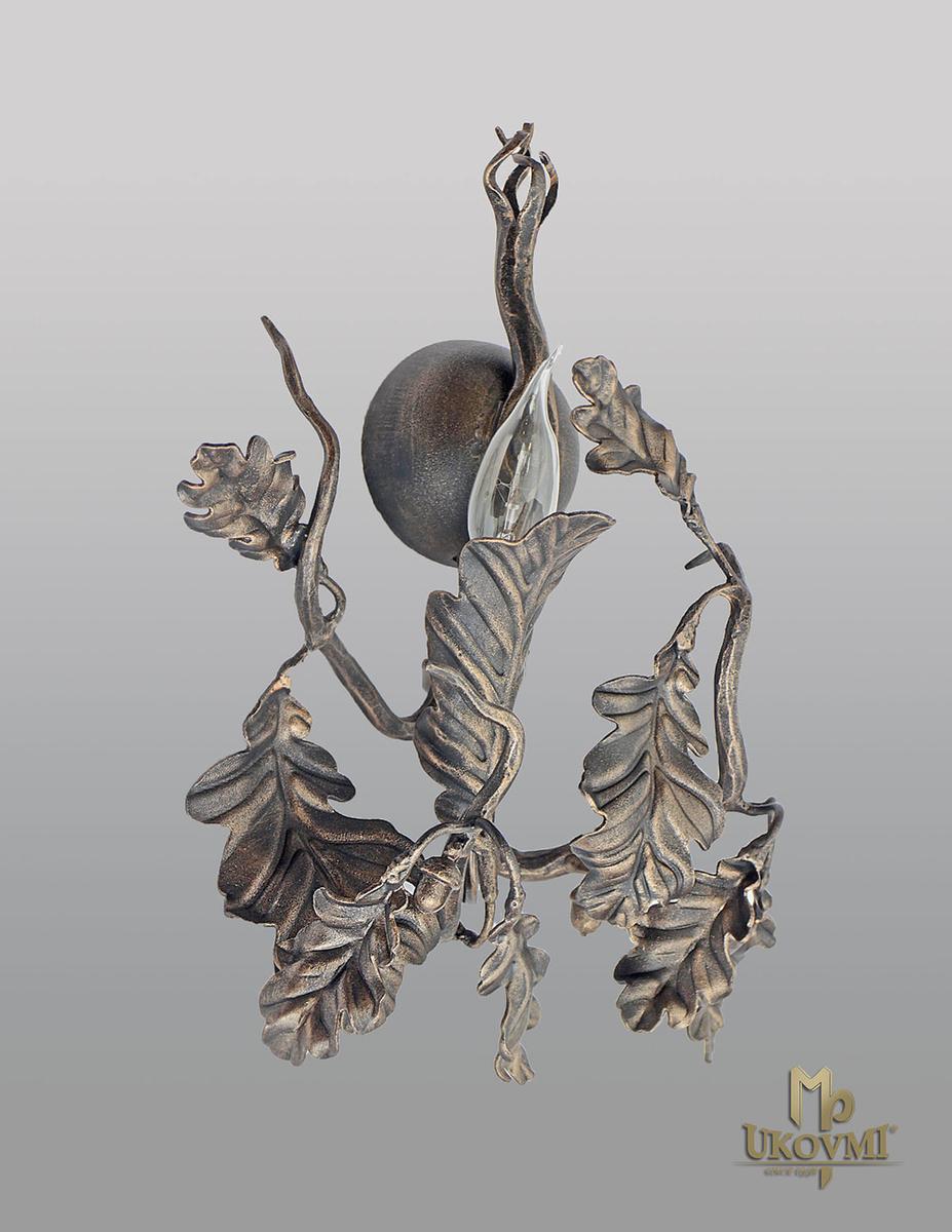 Nástenné - bočné kované svietidlo DUB - luxusná interiérová lampa