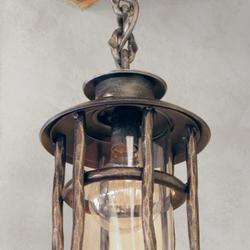 Kované závesné svietidlo BABIČKA - exteriérové svietidlo