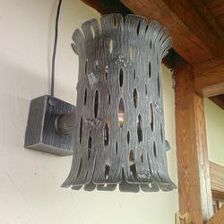 Umelecké nástenné svietidlo KÔRA II. - exteriérové svietidlo