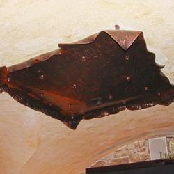 Kované stropné tienidlo KÔRA VIII. - interiérové dobové svietidlo