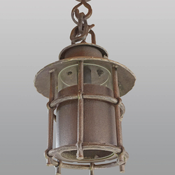 Závesné svietidlo -  kovaná lampa KLASIK s tienidlom - exteriérové svietidlo