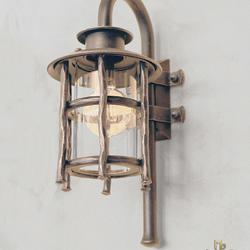 Luxusné nástenné svietidlo BABIČKA - exteriérová kovaná lampa