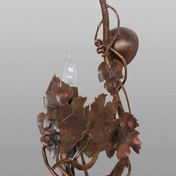 Nástenná - bočná kovaná lampa - VINIČ BEZ HROZNA - interiérové ručne kované svietidlo