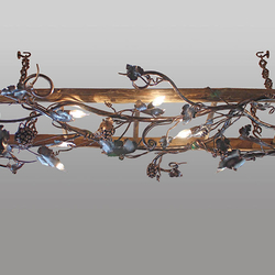 Závesné svietidlo – kovaný luster VINIČ/REBRÍK - luxusné interiérové svietidlo