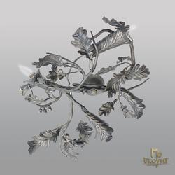 Stropné svietidlo – kovaný luster DUB - exkluzívne interiérové svietidlo