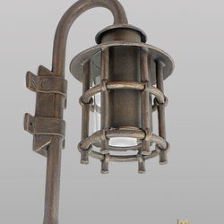 Nástenné svietidlo -  kovaná lampa KLASIK s tienidlom - exteriérové svietidlo