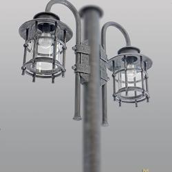 Bočné svietidlo na stĺp KLASIK (bez stĺpa)