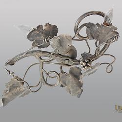 Stropné svietidlo – kovaný luster VINIČ - exkluzívne interiérové svietidlo