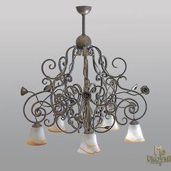 Závesné svietidlo – kovaný luster – RUSTIKÁL 5 - exkluzívne svietidlo