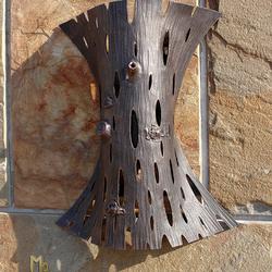 Ručne kovaná nástenná lampa KÔRA IV. - exteriérové bočné svietidlo