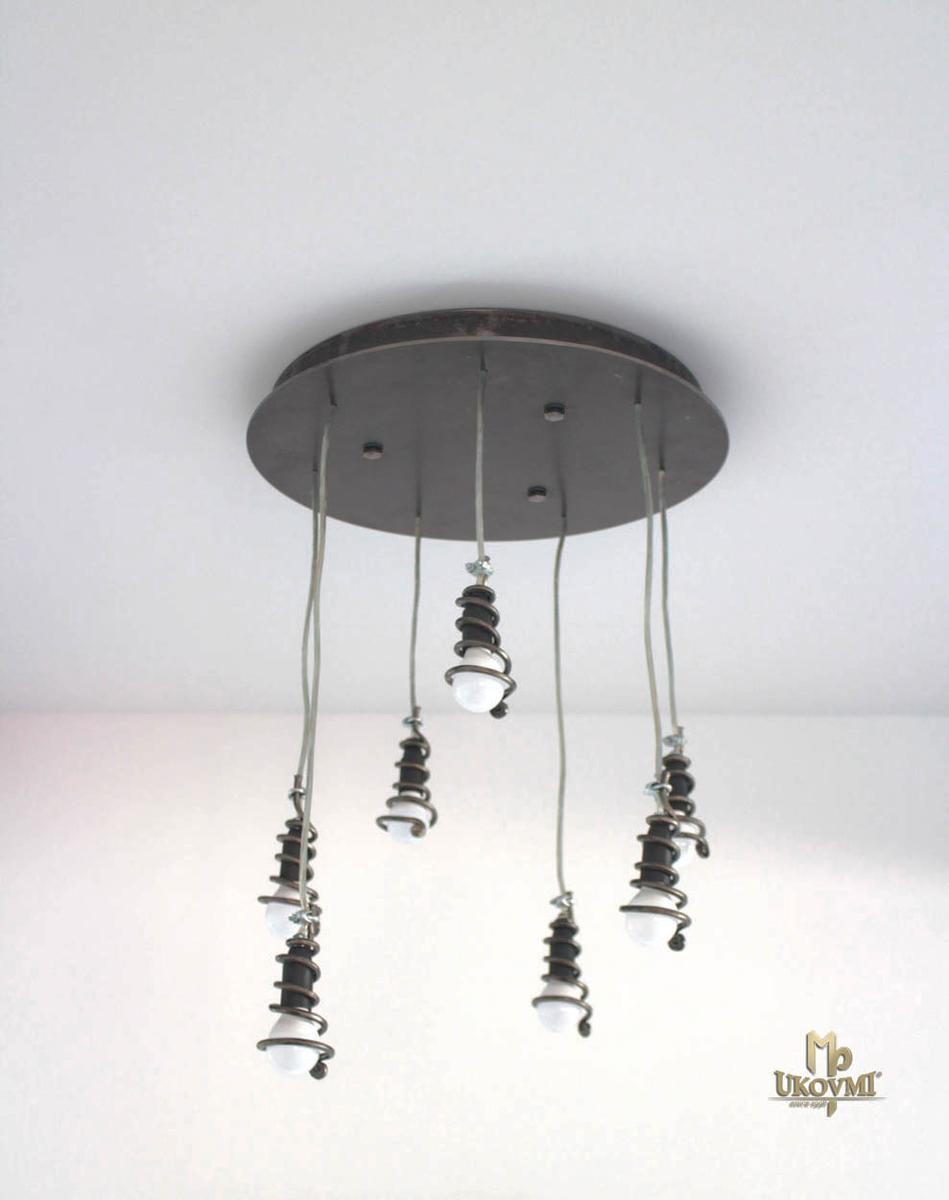 Moderné závesné svietidlo ŠPIRÁLKY okrúhle - interiérové svietidlo