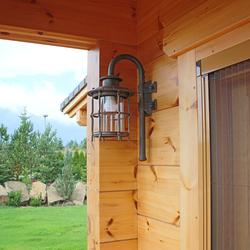 Luxusné lampy - bočné kované svietidlá KLASIK pre exteriérové osvietenie horskej chalupy