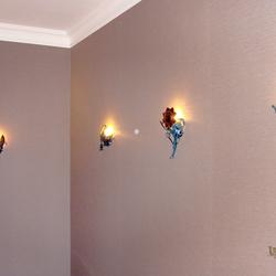 Štýlové osvetlenie wellness v Grand Hotel Praha - luxusné bočné svietidlá