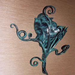 Moderné svietidlá - umelecká bočná lampa SLNEČNICA - interiérové svietidlo s prírodným motívom
