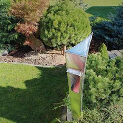 Luxusná záhradná lampa z nerezovej ocele - moderné osvetlenie záhrad, skaliek, terás, altánkov, prístupových ciest...