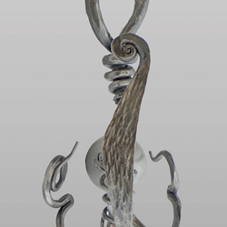 Dizajnová nástenná lampa KOREŇ - výnimočné ručne kované svietidlo - moderné lampy
