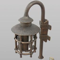 Ručne kované exteriérové svietidlo s tienidlom vyrobené v UKOVMI - exkluzívna nástenná lampa