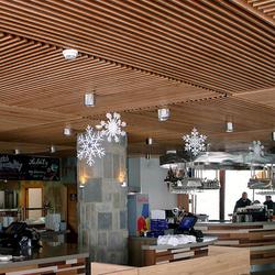 Luxusné a originálne osvetlenie reštaurácie v Tatrách - Chopok Rotunda - nerezové svietidlá