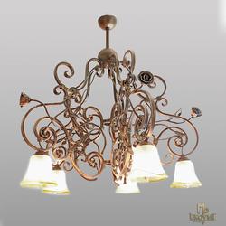 Luxusný rustikálny luster - interiérové svietidlo oživujúce staré myšlienky - ručne kované svietidlo