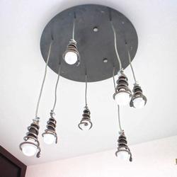 Moderné dizajnové svietidlo ŠPIRÁLKY - okrúhly interiérový luster