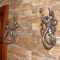 Nástenné lampy navrhnuté prírodou ako interiérové osvetlenie horskej chalupy - luxusné lampy KOREŇ