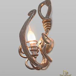 Umelecké kované svietidlo s prírodným motívom KOREŇ - moderné svietidlo určené do interiéru