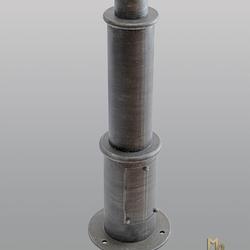 Kovaný stĺp na bočné lampy - detail - záhradné svietidlá